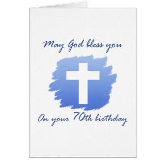 70.a tarjeta de cumpleaños del cristiano