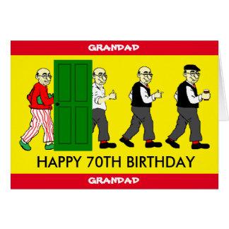 70.a tarjeta de cumpleaños del GRANDAD