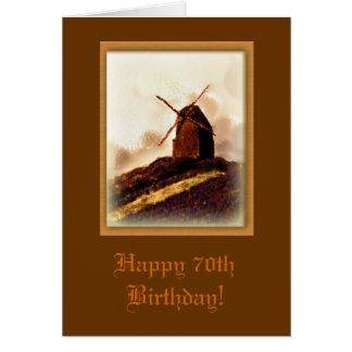 70.a tarjeta de cumpleaños del molino de viento