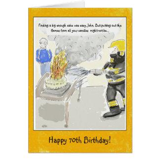 Tarjeta 70.a tarjeta de cumpleaños divertida para los