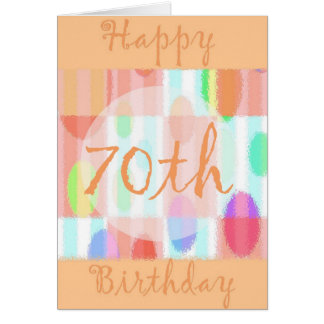 70.a tarjeta de cumpleaños feliz