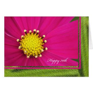 70.a tarjeta de felicitación feliz del cumpleaños