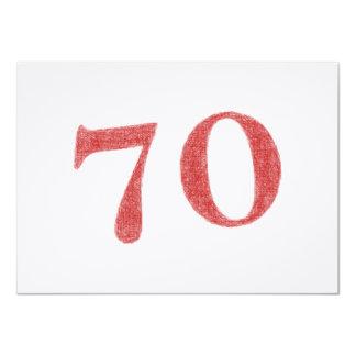 70 años de aniversario invitación 11,4 x 15,8 cm
