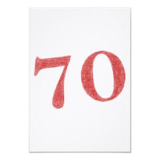70 años de aniversario invitación 8,9 x 12,7 cm