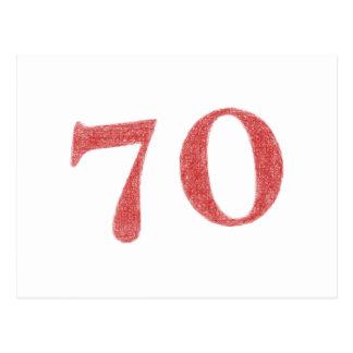 70 años de aniversario postal