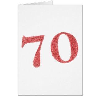 70 años de aniversario tarjeta de felicitación