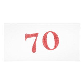 70 años de aniversario tarjeta fotográfica personalizada