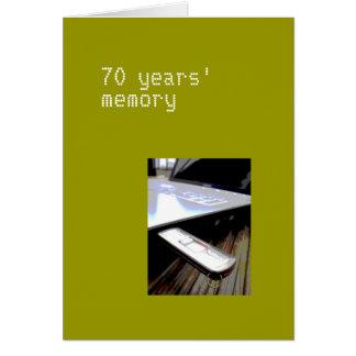 70 años de tarjeta