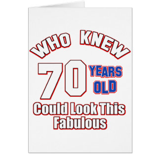 70 años del diseño del cumpleaños tarjetas
