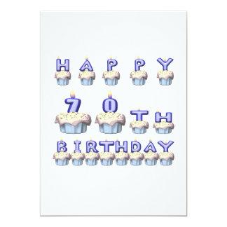 70 años invitación 12,7 x 17,8 cm