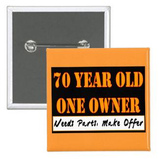 70 años, un dueño - las piezas de las necesidades, chapa cuadrada 5 cm