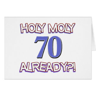 70 años ya tarjeta de felicitación