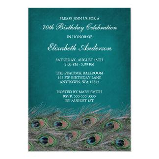 70.as invitaciones de la fiesta de cumpleaños del invitación 12,7 x 17,8 cm