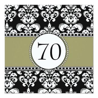 70.as invitaciones del cumpleaños del damasco invitación 13,3 cm x 13,3cm