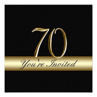 70.as invitaciones del cumpleaños del metal de la  anuncio