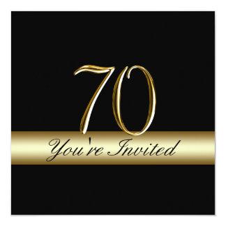 70.as invitaciones del cumpleaños del metal de la invitación 13,3 cm x 13,3cm