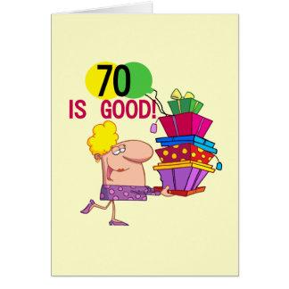70 es buenos camisetas y regalos del cumpleaños felicitación