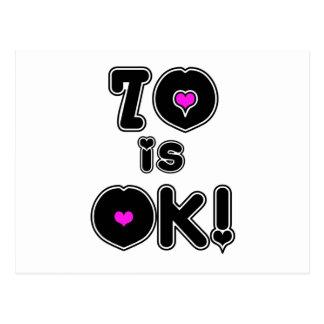 70 es cumpleaños ACEPTABLE Tarjetas Postales