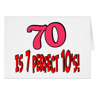 ¡70 es los 7 años 10 perfectos! ROSA Tarjeta De Felicitación