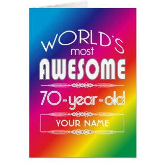 70.o Arco iris fabuloso de los mundos del Tarjeta De Felicitación