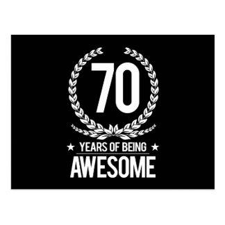 70.o Cumpleaños (70 años de ser impresionantes) Postal