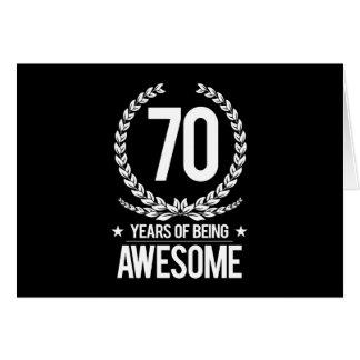 70.o Cumpleaños (70 años de ser impresionantes) Tarjeta De Felicitación