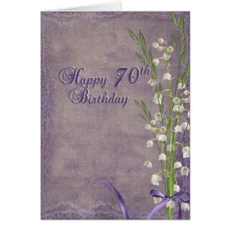 70.o Cumpleaños con el lirio de los valles Tarjeta De Felicitación