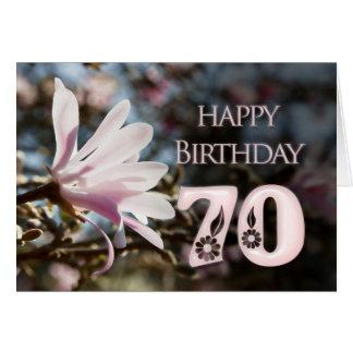 70.o Cumpleaños con la magnolia Tarjetas