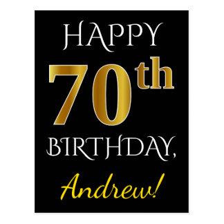 70.o cumpleaños del oro negro, falso + Nombre de Postal
