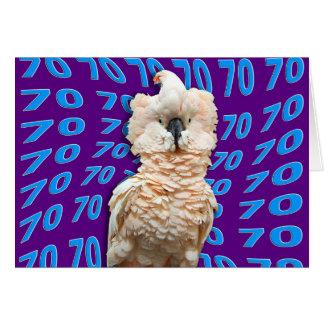 70.o cumpleaños feliz que ofrece el Cockatoo Tarjeta De Felicitación