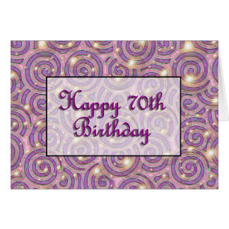 70.o cumpleaños feliz tarjeton