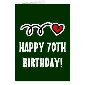 70.o cumpleaños feliz - tarjeta de felicitación