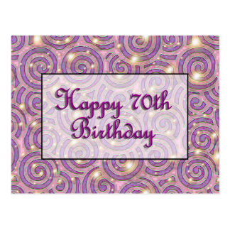 70.o cumpleaños feliz postal