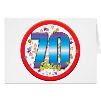 70 o Cumpleaños hoy v2 Tarjetón