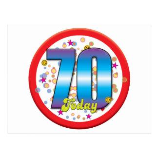 70.o Cumpleaños hoy v2 Postal