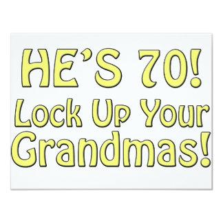 70.o Cumpleaños Anuncio
