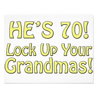 70 o Cumpleaños Anuncio