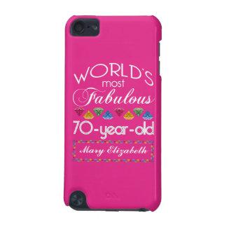 70.o Cumpleaños la mayoría del rosa colorido Carcasa Para iPod Touch 5G