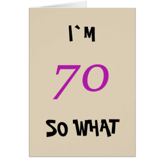 70.o Cumpleaños para ella divertida Tarjeta