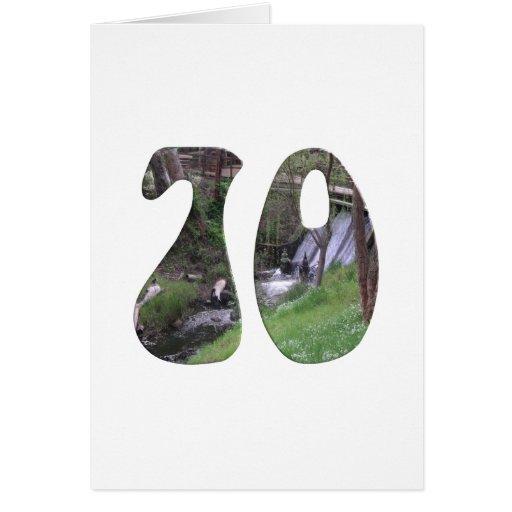 70.o Cumpleaños Tarjetas