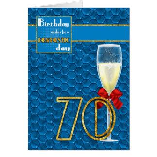 70.o cumpleaños - tarjeta de cumpleaños geométrica