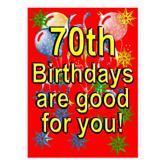 70 o Cumpleaños Postales