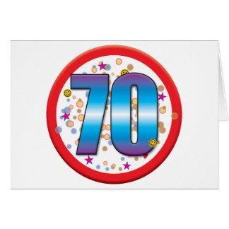 70 o Cumpleaños v2 Felicitación