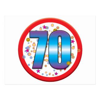 70.o Cumpleaños v2 Tarjetas Postales