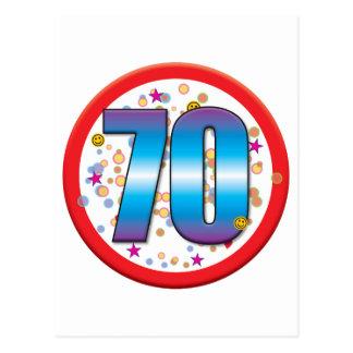 70.o Cumpleaños v2 Postales