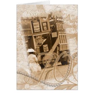 70.o cumpleaños - vintage, nostalgia, cumpleaños tarjeta de felicitación