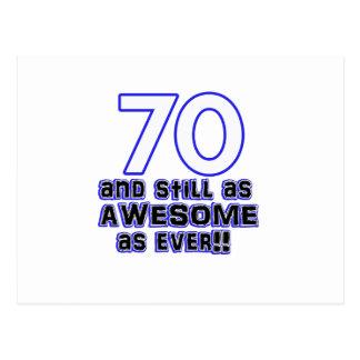 70.o diseño del cumpleaños postal