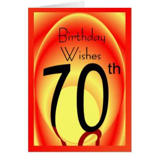 70.o El cumpleaños desea la tarjeta para cualquier