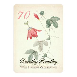 70.o Fiesta de cumpleaños - invitación de encargo