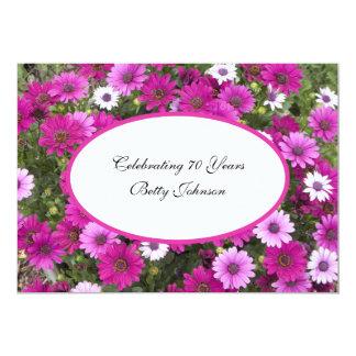70.o Floral magnífico de la invitación de la